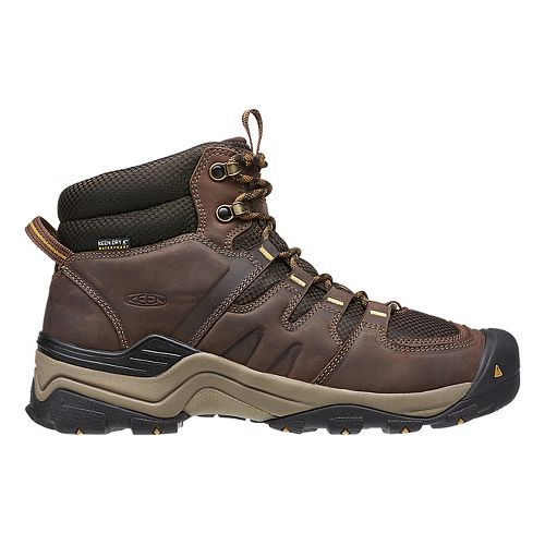 Mens Keen Gypsum II Mid WP Hiking Shoe - Coffee/Bronze 13