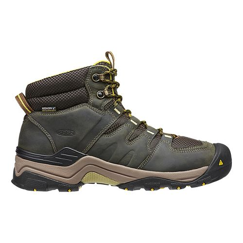 Mens Keen Gypsum II Mid WP Hiking Shoe - Forest Night/Olive 8.5