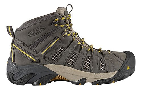 Mens Keen Voyageur Mid Hiking Shoe - Raven/Olive 7