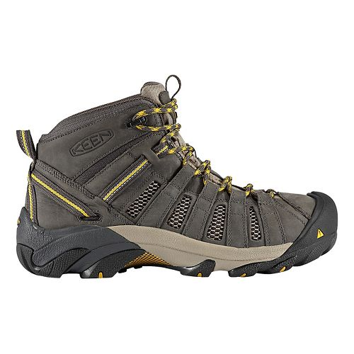 Mens Keen Voyageur Mid Hiking Shoe - Raven/Olive 10.5