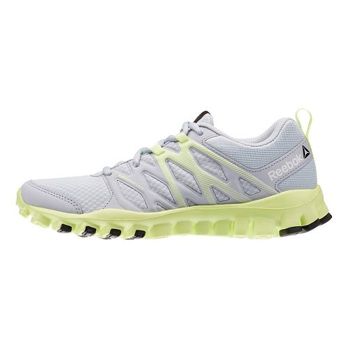 Womens Reebok RealFlex Train 4.0 Cross Training Shoe - Grey/Yellow 7.5