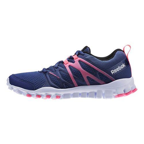 Womens Reebok RealFlex Train 4.0 Cross Training Shoe - Navy/Pink 7