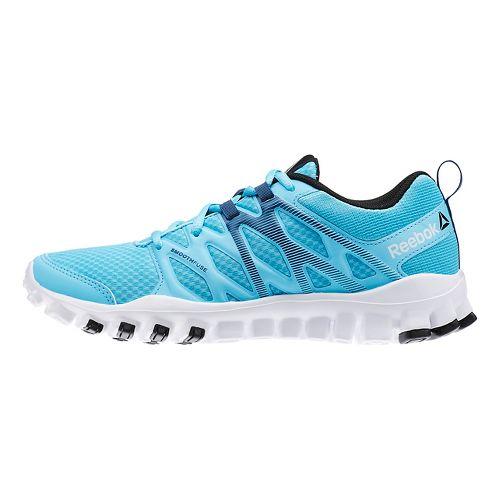 Womens Reebok RealFlex Train 4.0 Cross Training Shoe - Blue/White 7.5