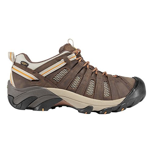 Mens Keen Voyageur Hiking Shoe - Olive/Inca Gold 10.5