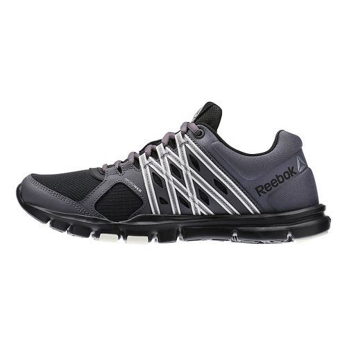 Womens Reebok YourFlex Trainette 8.0 L MT Cross Training Shoe - Black/Grey 10.5