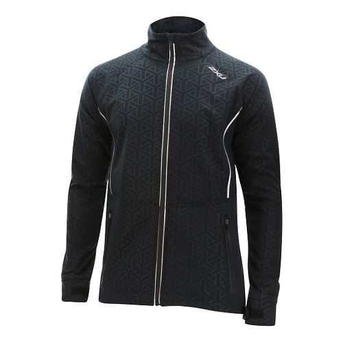 Mens 2XU 23.5 N Running Jackets - Black/Ombre Blue M