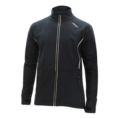 Mens 2XU 23.5 N Running Jackets - Black/Ombre Blue S