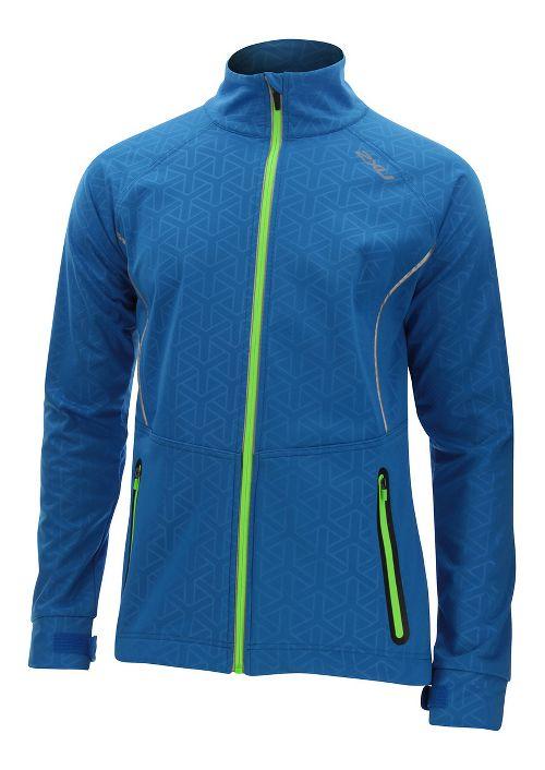 Mens 2XU 23.5 N Running Jackets - Cobalt Blue/Ombre S
