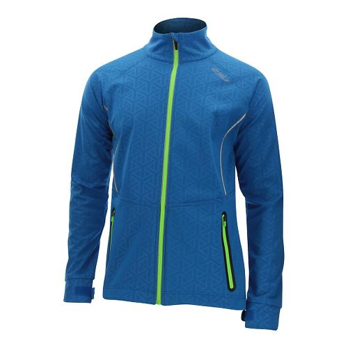 Mens 2XU 23.5 N Running Jackets - Cobalt Blue/Ombre XL