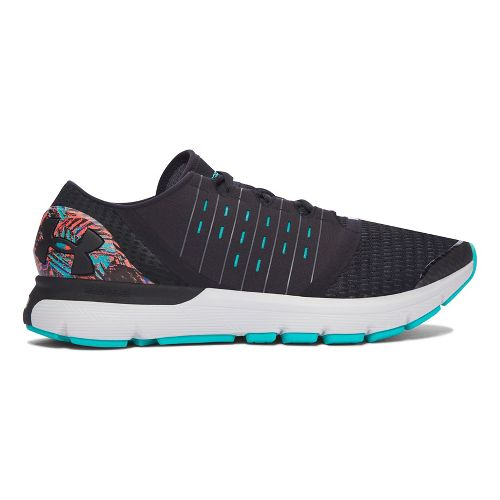 Mens Under Armour Speedform Europa City RE Running Shoe - Black/Black 9.5