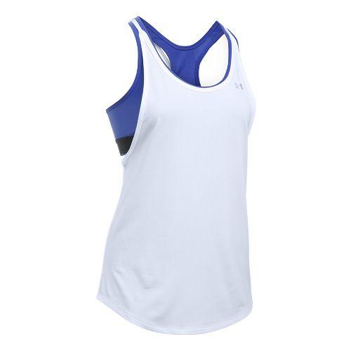 Womens Under Armour Heatgear 2-in-1 Sleeveless & Tank Technical Tops - White M