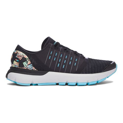 Womens Under Armour Speedform Europa City RE Running Shoe - Black/Black 10