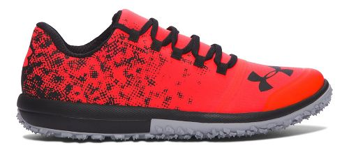 Mens Under Armour Speed Tire Ascent Low Trail Running Shoe - Red/Grey 10