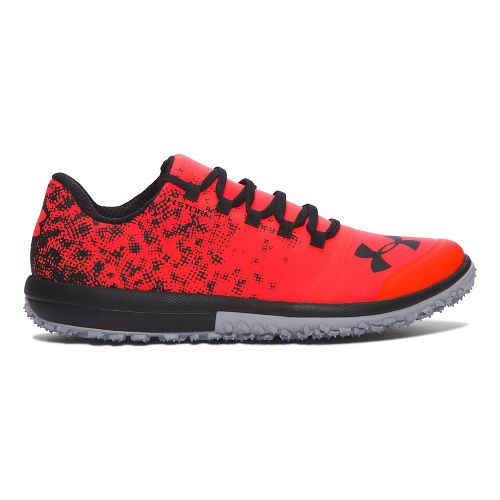 Mens Under Armour Speed Tire Ascent Low Trail Running Shoe - Red/Grey 14