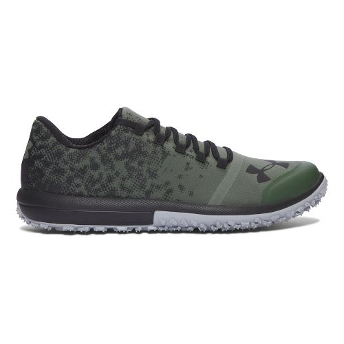 Mens Under Armour Speed Tire Ascent Low Trail Running Shoe - Green/Black 10.5