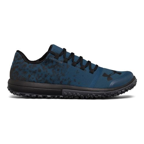 Mens Under Armour Speed Tire Ascent Low Trail Running Shoe - Blue/Grey 8.5