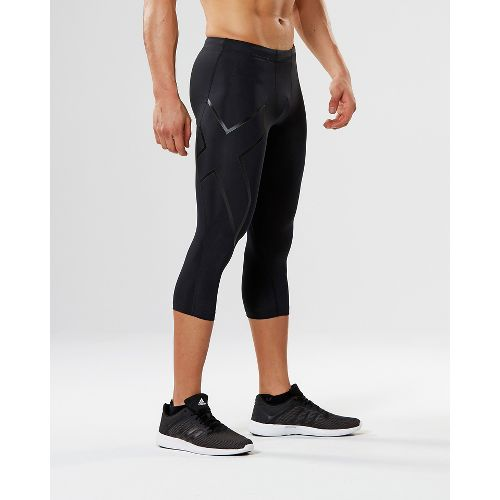 Mens 2XU 3/4 Compression Tights Capris Pants - Black/Nero XXL