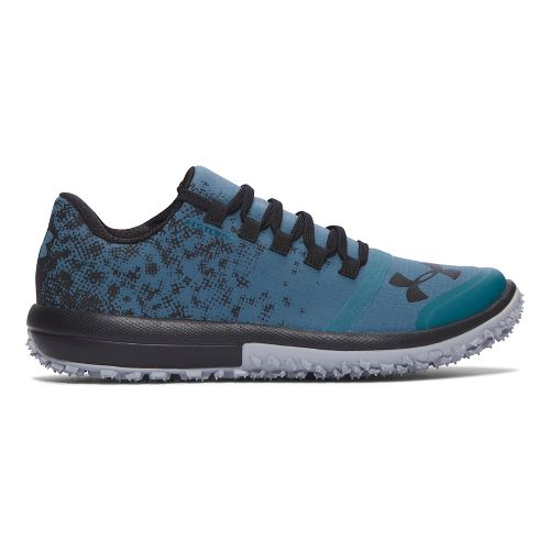 Womens Under Armour Speed Tire Ascent Low Trail Running Shoe - Blue/Black 8.5