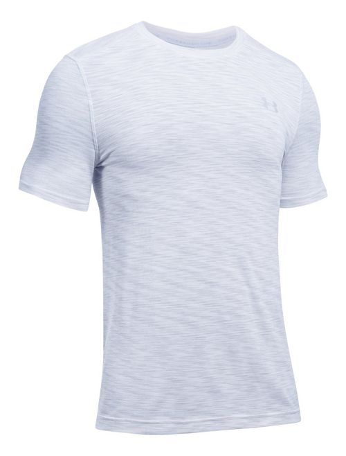 Mens Under Armour Threadborne Seamless Short Sleeve Technical Tops - White L