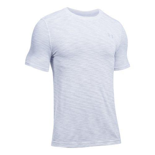 Mens Under Armour Threadborne Seamless Short Sleeve Technical Tops - White S