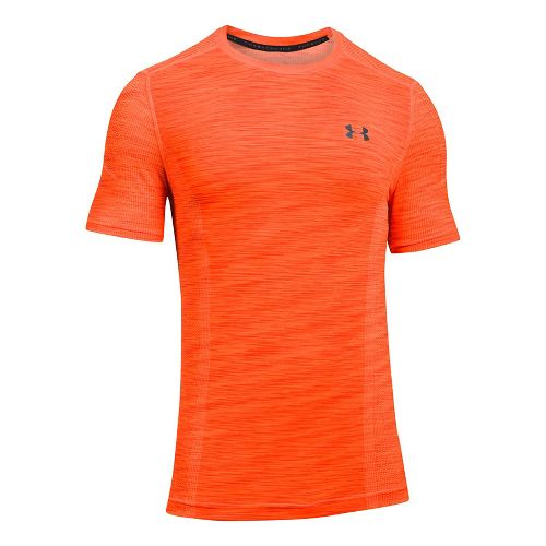 Mens Under Armour Threadborne Seamless Short Sleeve Technical Tops - Lime Twist/Graphite 3XL