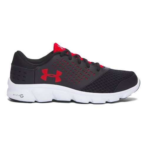 Kids Under Armour Micro G Rave RN Running Shoe - Black/Red 4.5Y