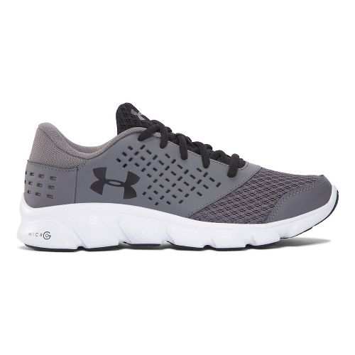Kids Under Armour Micro G Rave RN Running Shoe - Grey/Black 6Y