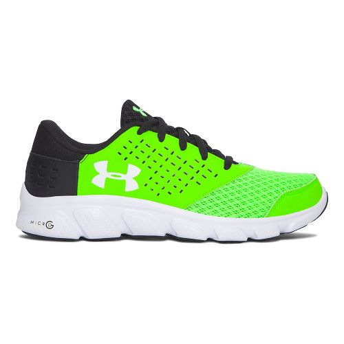Kids Under Armour Micro G Rave RN Running Shoe - Hyper Green/Black 4Y