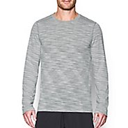 Mens Under Armour Threadborne Seamless Long Sleeve Technical Tops - White XXL