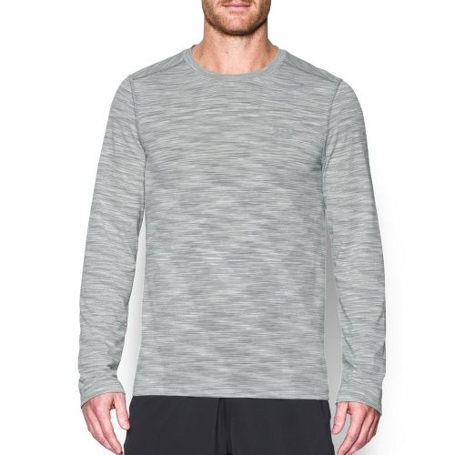 Mens Under Armour Threadbone Seamless Long Sleeve Technical Tops - White S