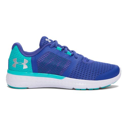 Kids Under Armour Micro G Fuel RN Running Shoe - Periwinkle/Silver 4.5Y