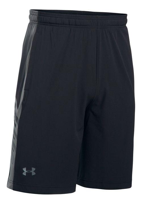 Mens Under Armour Supervent Woven Unlined Shorts - Black/Graphite L