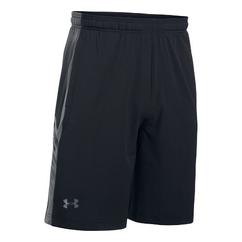 Mens Under Armour Supervent Woven Unlined Shorts - Black/Graphite S