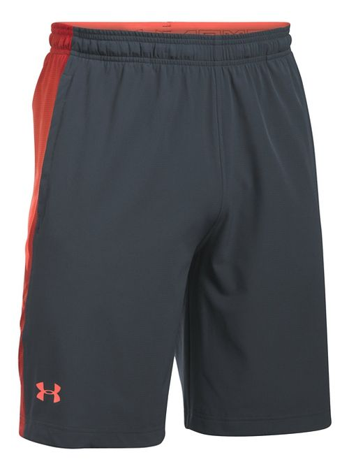 Mens Under Armour Supervent Woven Unlined Shorts - Stealth Grey/Phoenix M