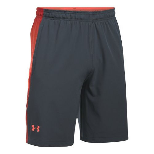 Mens Under Armour Supervent Woven Unlined Shorts - Stealth Grey/Phoenix XL