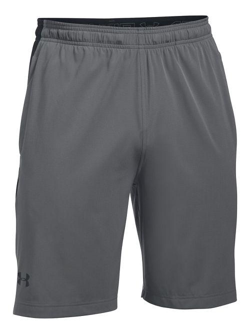 Mens Under Armour Supervent Woven Unlined Shorts - Graphite/Black S
