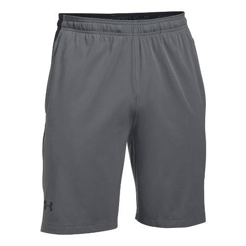 Mens Under Armour Supervent Woven Unlined Shorts - Graphite/Black XL