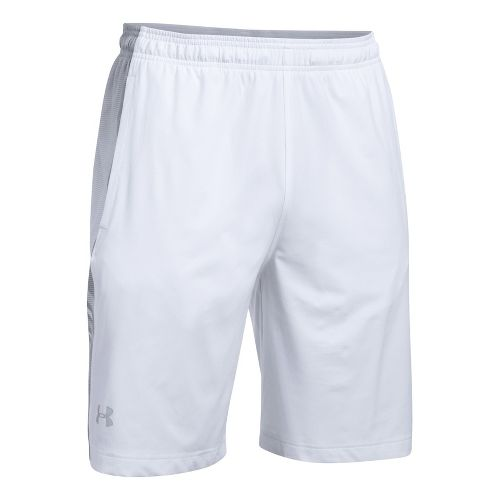 Mens Under Armour Supervent Woven Unlined Shorts - White/Overcast Grey XL