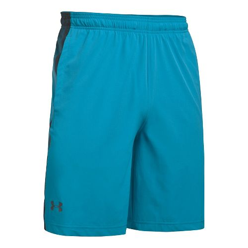 Mens Under Armour Supervent Woven Unlined Shorts - Blue Shift/Grey M