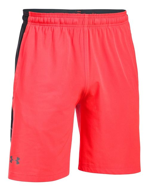 Mens Under Armour Supervent Woven Unlined Shorts - Marathon Red/Grey XL