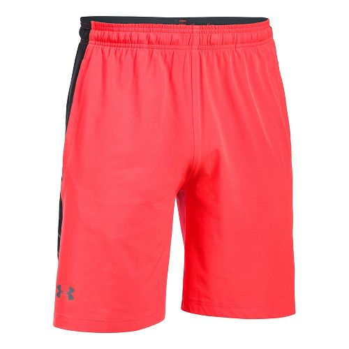 Mens Under Armour Supervent Woven Unlined Shorts - Marathon Red/Grey M