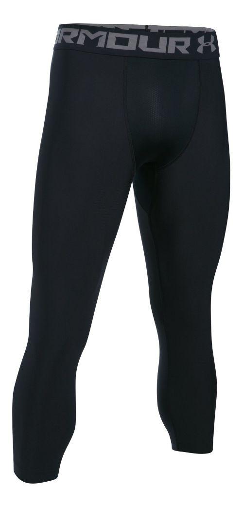 Mens Under Armour HeatGear 2.0 3/4 Legging Capris Tights - Black/Graphite L