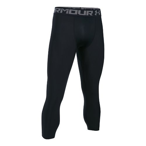 Mens Under Armour HeatGear 2.0 3/4 Legging Capris Tights - Black/Graphite S