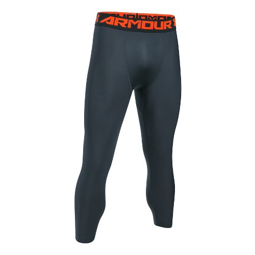 Mens Under Armour HeatGear 2.0 3/4 Legging Capris Tights - Stealth Grey/Phoenix S