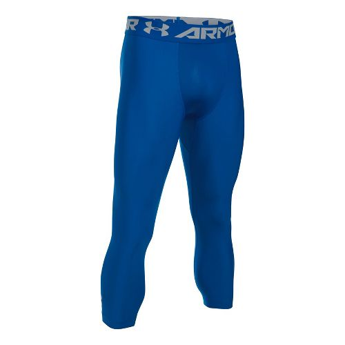 Mens Under Armour HeatGear 2.0 3/4 Legging Capris Tights - Royal/Steel M