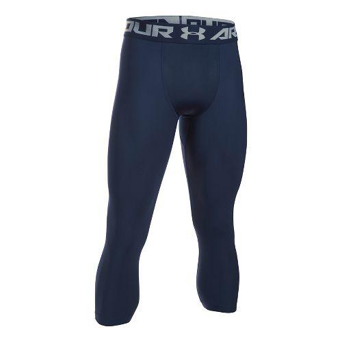 Mens Under Armour HeatGear 2.0 3/4 Legging Capris Tights - Midnight Navy/Steel XL