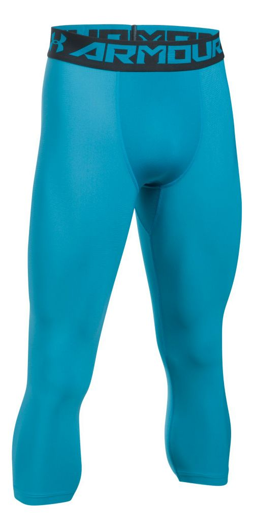 Mens Under Armour HeatGear 2.0 3/4 Legging Capris Tights - Blue Shift/Grey M