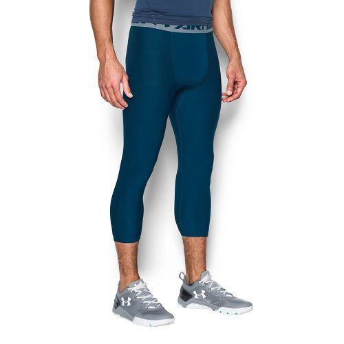 Mens Under Armour HeatGear 2.0 3/4 Legging Capris Tights - Blackout Navy/Steel L