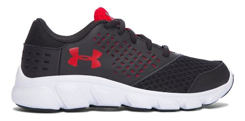 Kids Under Armour Rave RN Running Shoe - Black/Red 13C