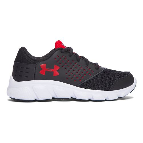 Kids Under Armour Rave RN Running Shoe - Black/Red 11C